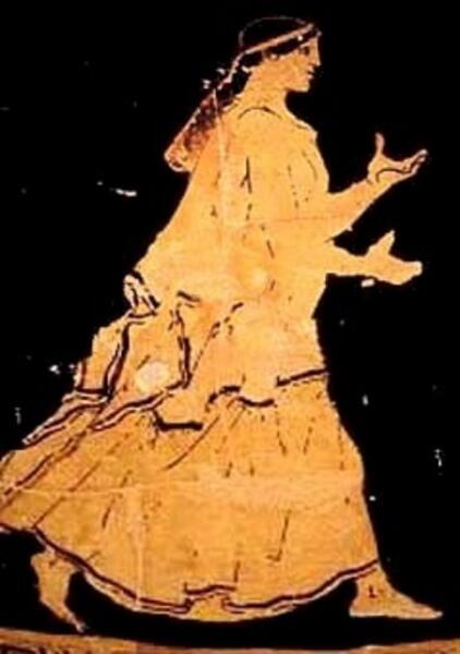 Ахиллес, «Псамафа» (роспись жертвенного сосуда), 450−445 гг. до н.э.