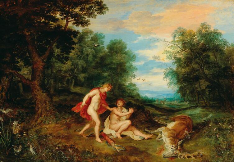 Мастерская Яна Брейгеля Младшего, «Аполлон утешает Кипариса»