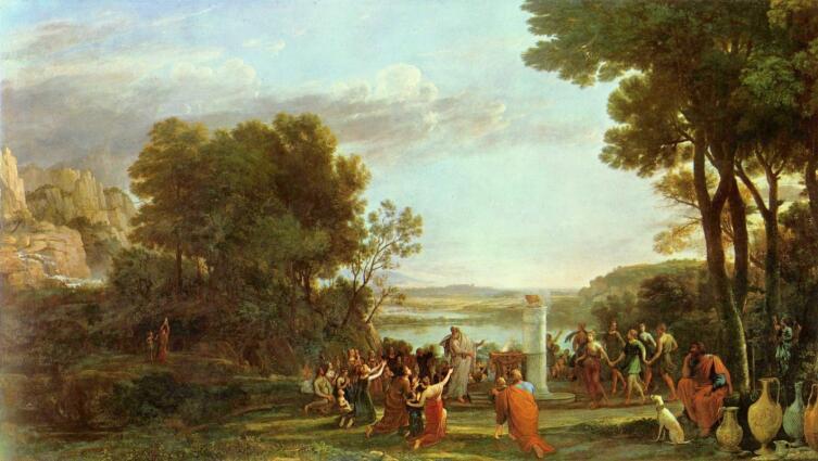 Клод Лоррен, «Пейзаж с поклонением золотому тельцу»