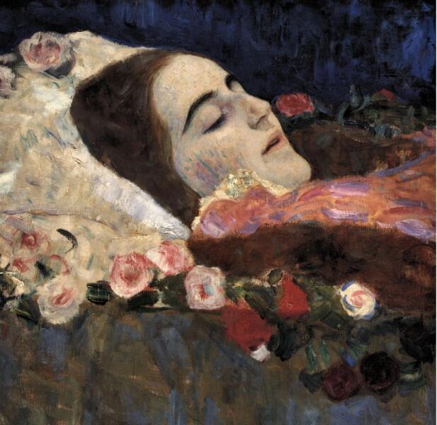 Густав Климт, «Риа Мунк на смертном одре», 1912г.