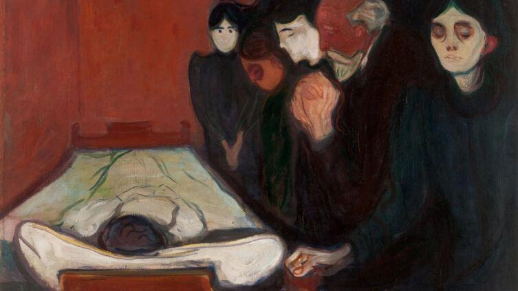 Эдвард Мунк, «У смертного одра», 1895 г.