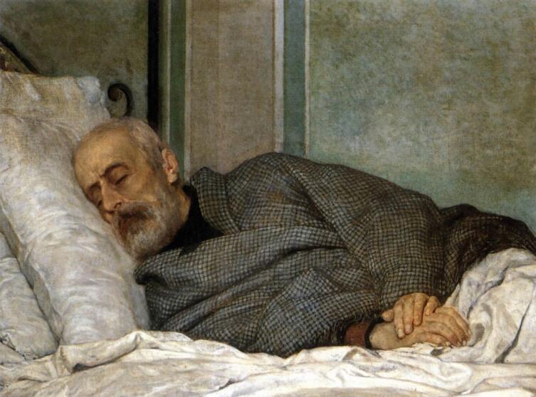Сильвестро Лега, «Джузеппе Мадзини на смертном одре», 1873г.