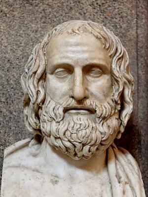 Бюст Еврипида, римская копия греческого оригинала
