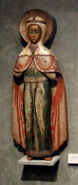 Деревянная скульптура св. Параскевы. Конец XVII — начало XVIII века