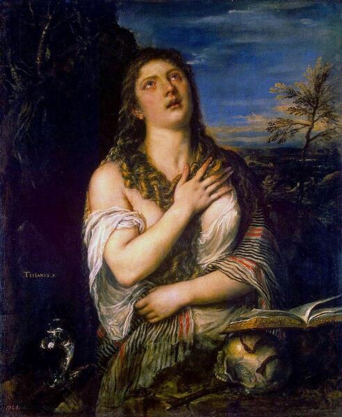 Тициан Вечеллио, «Кающаяся Мария Магдалина», 1560-е гг.