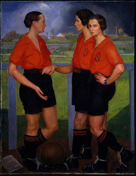 Анхель Саррага, «Футболистки», 1922 г.