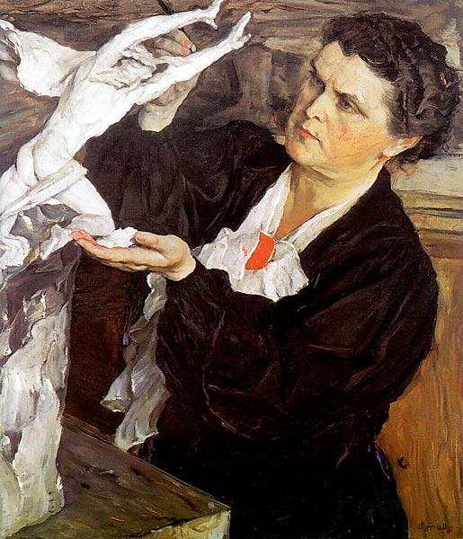 М. В. Нестеров, «Портрет скульптора В. И. Мухиной», 1940 г.