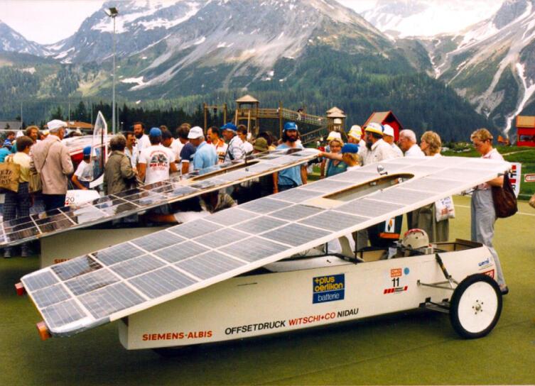 Смотр-ралли «солнечных» автомобилей «Tour de sol», 1987 г.
