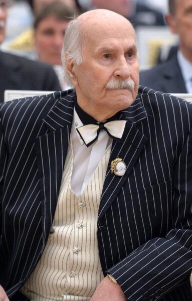 Актер Владимир Зельдин, в 2015 году
