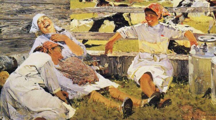 Н. Н. Баскаков, «Доярки», 1962 г.