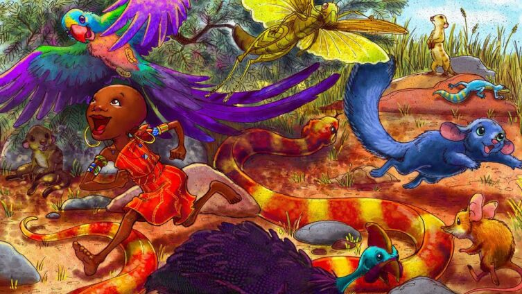 Иллюстрация Erin Taylor из издания «Alice's Wonderful Adventures in Africa» (2009)