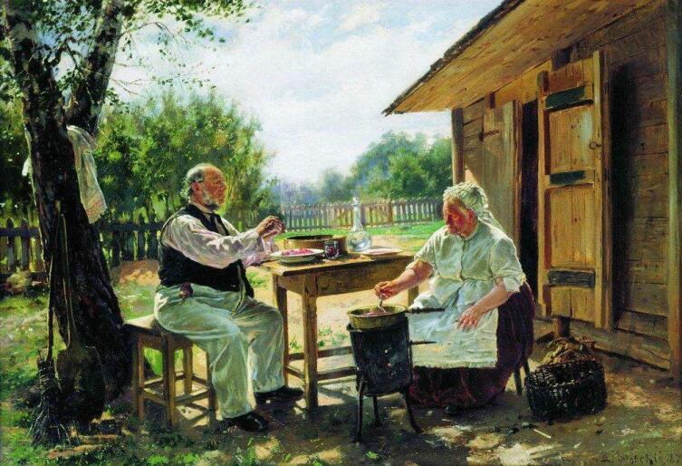 В. Е. Маковский, «Варят варенье», 1876 г.