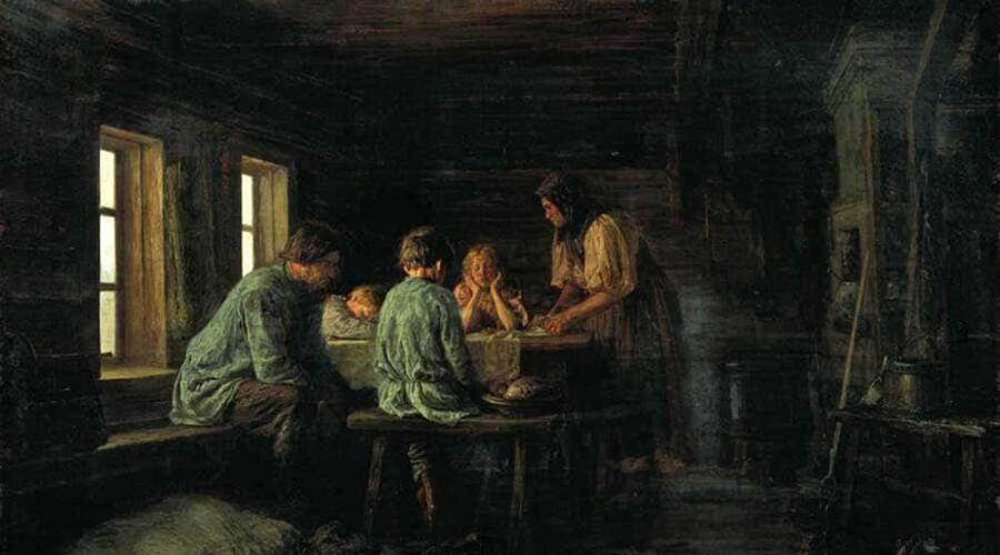 В. М. Максимов, «Бедный ужин»