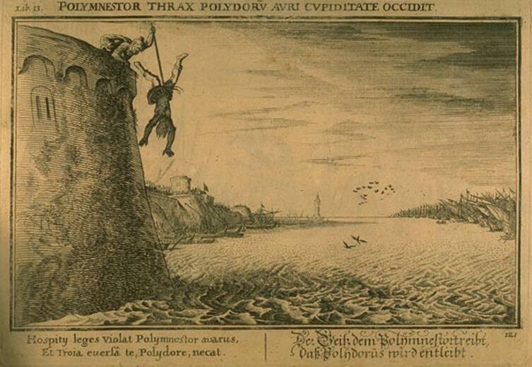 Жоан Гуильям Боувер, «Полиместор убивает Полидора», 1659 г.