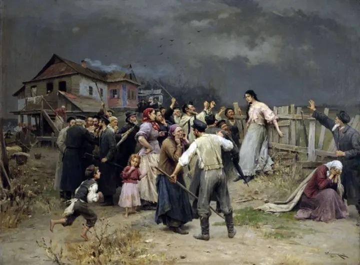 Н. К. Пимоненко, «Жертва фанатизма», 1898 г.