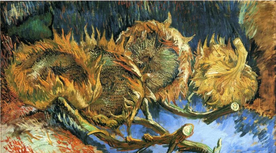 Винсент Ван Гог, «Четыре подсолнуха», 1887 г.