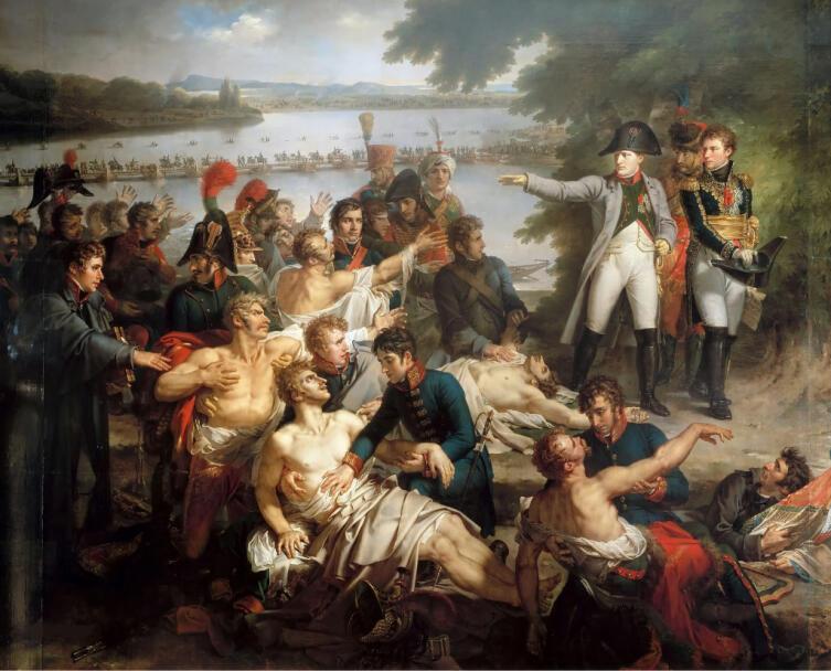 Шарль Мейнье, «Возвращение Наполеона на остров Лобау после битвы при Эсслинге»