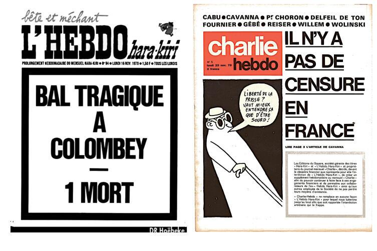 Последний, запрещённый, номер «Л'Эбдо Харакири». Через неделю издание вышло под новым заголовком «Шарли Эбдо»