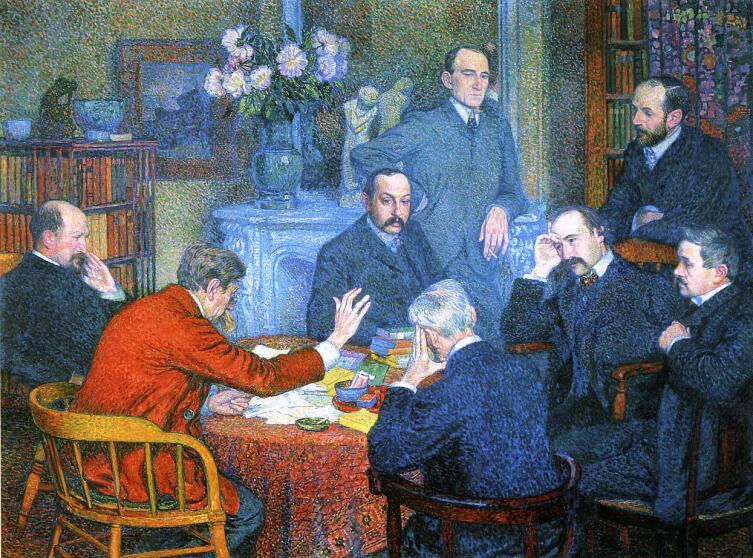 Тео ван Рейссельберге, «Чтение Эмиля Верхарна», 1903 г.