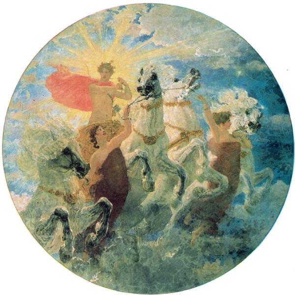 В. А. Серов, «Феб лучезарный», 1887 г.