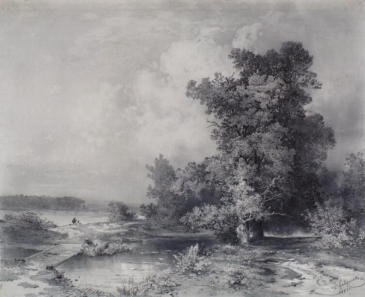 А. К. Саврасов, «Вид в селе Кунцеве под Москвой», 1855 г.