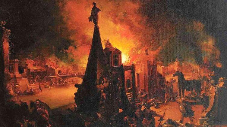 Иоанно Георг Траутманн, «Падение Трои»