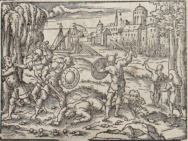 Вергилий Солис, «Железный век», иллюстрация к «Метаморфозам» Овидия, 1581 г.