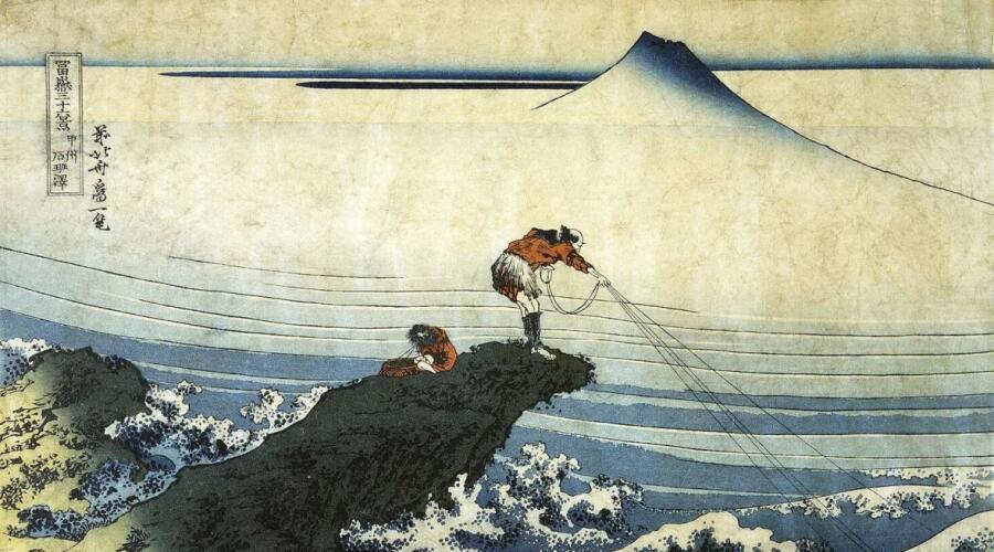 Кацусика Хокусай, «Кодзикисава, провинция Каи», 1831 г.