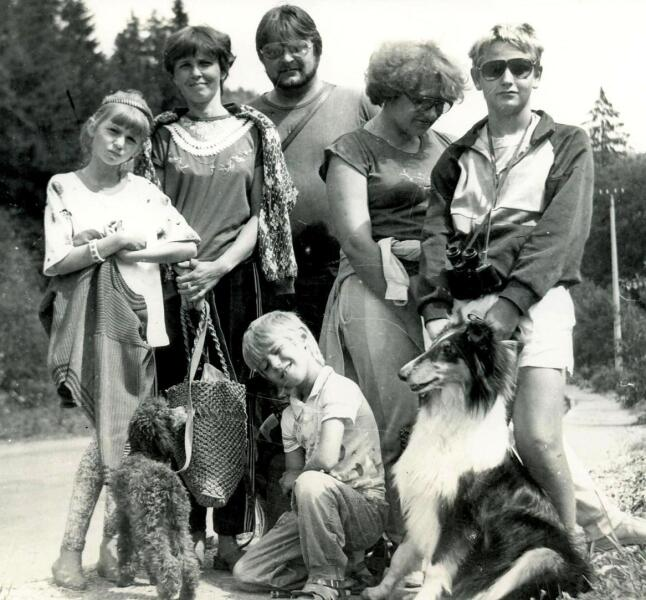 Семейный отдых в Карпатах, г.Яремче, 1992 г.