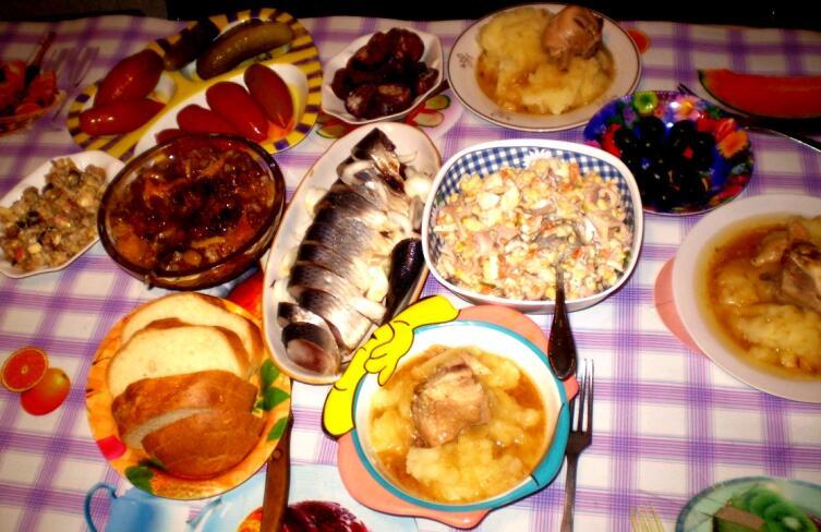 Наш семейный ужин, 2005 г.