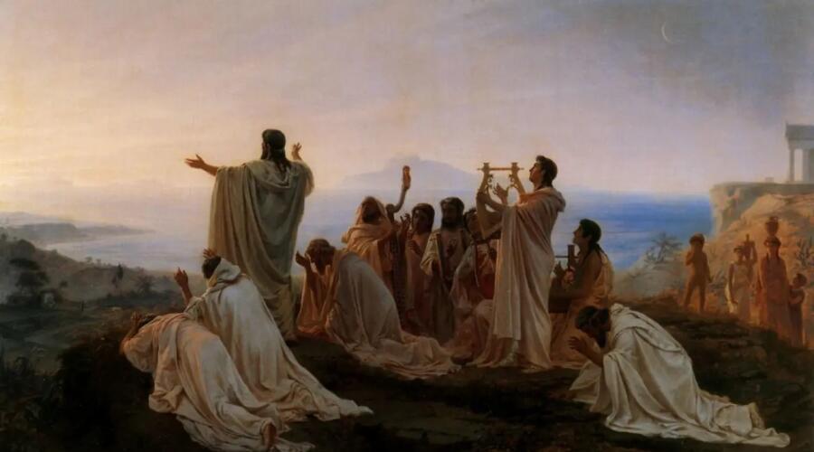 Ф. А. Бронников, «Гимн пифагорейцев восходящему солнцу», 1869 г.