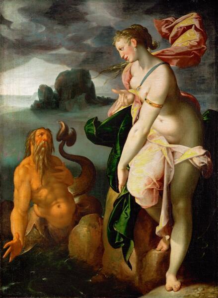 Бартоломеус Спрангер, «Главк и Скилла», 1580 г.