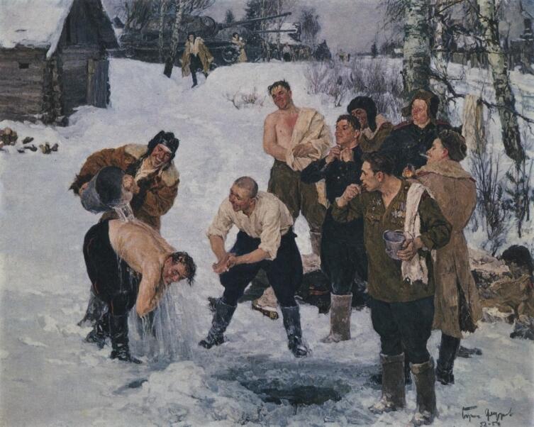 Б. Ф. Фёдоров, «Утро танкистов», 1954 г.