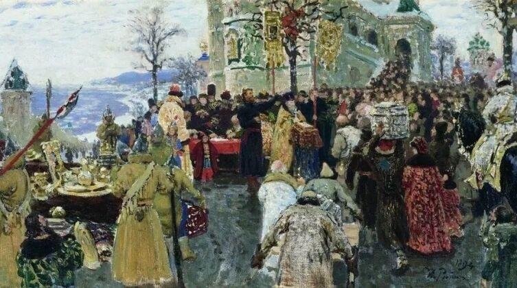 И. Е. Репин, «Кузьма Минин. Эскиз», 1894 г.