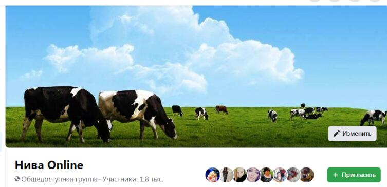 Страница группы в Фесбуке, 2020 г.