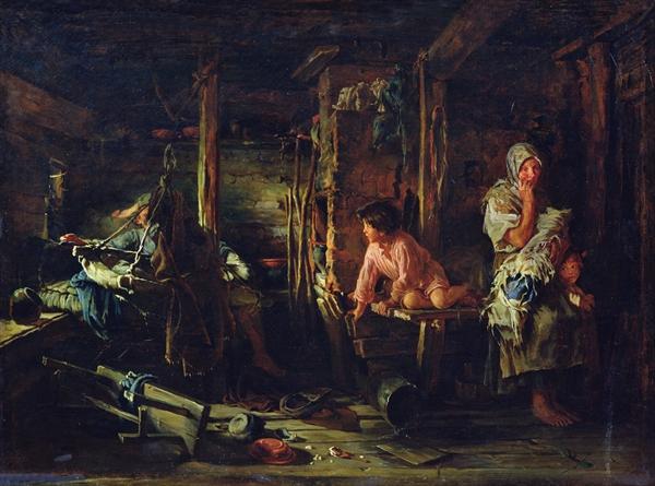 К. В. Лемох, «Пьяный муж», 1894 г.