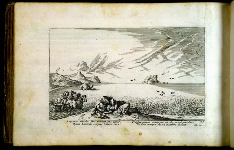 Виргиль Солис, «Нептун и Кенида», иллюстрация к «Метаморфозам» Овидия, 1563 г.