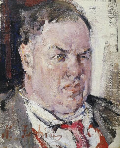 Н. И. Фешин, «Портрет Д. Д. Бурлюка», 1924 г.