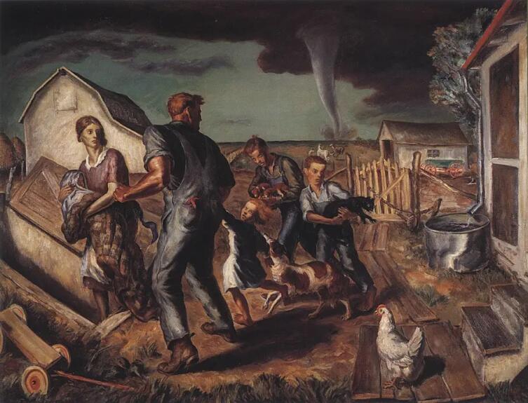 Джон Стюарт Карри, «Торнадо в Канзасе»