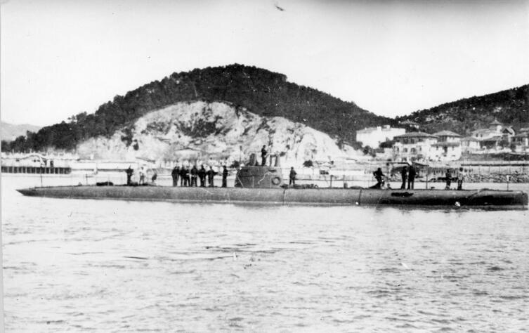 Подводная лодка «Святой Георгий» в Средиземном море