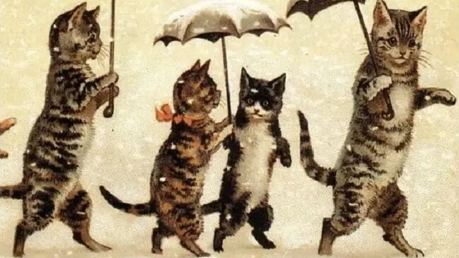 Луис Уэйн, «Счастливый и снежный декабрь», 1910-е гг.