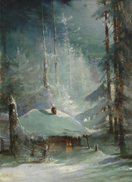 А. К. Саврасов, «Хижина в зимнем лесу», 1888 г.