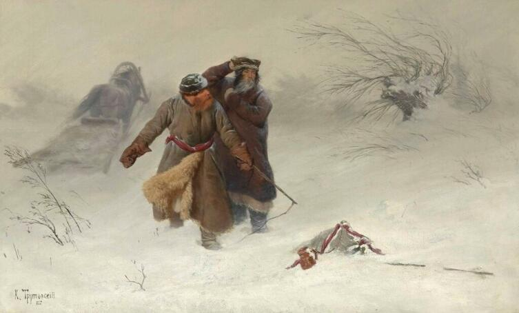 К. А. Трутовский, «Пурга», 1887 г.