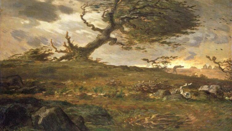 Жан-Франсуа Милле, «Порыв ветра», 1873 г.