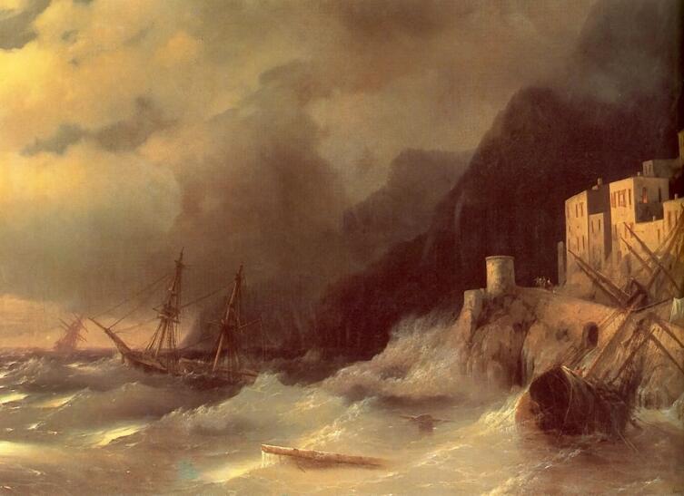 И. К. Айвазовский, «Буря», 1850 г.