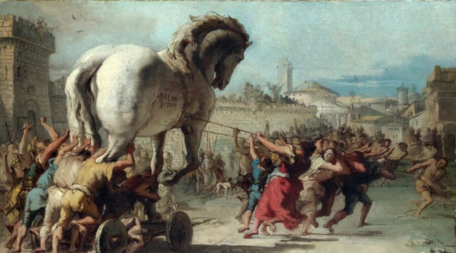 Джованни Доменико Тьеполо, «Шествие троянского коня»