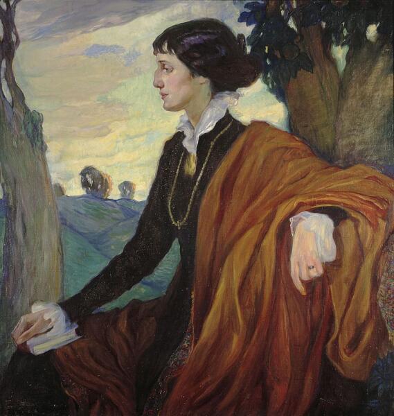 Портрет Ахматовой работы Ольги Кардовской, 1914 г.