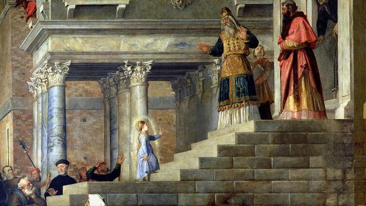 Тициан, «Введение во храм Пресвятой Богородицы», 1534-1538 гг.<br />