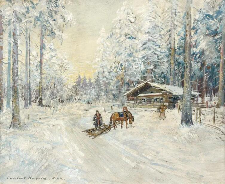 К. А. Коровин, «Зима. Лес», 1930-е гг.