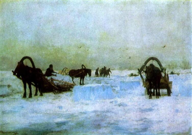 С. И. Светославский, «Заготовка льда»